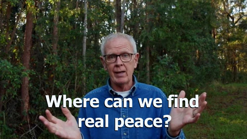 Where can we find real peace?